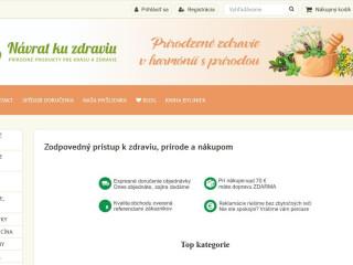 Predaj e-shopu www.navratkuzdraviu.sk